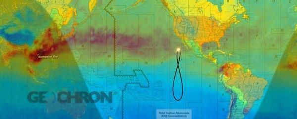 Carbon Monoxide Pollution over Human Geopolitical
