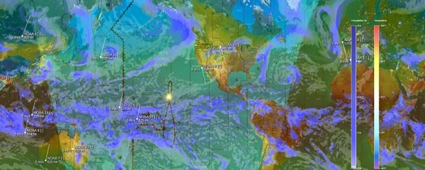 Live weather overlays